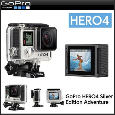 【送料無料】GoPro(ゴープロ) カメラGoPro(ゴープロ)多目的カメラ GoPro HERO4シルバーエデ...