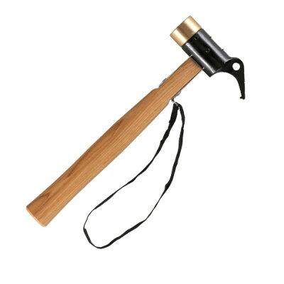 真鍮ヘッドが衝撃を吸収する。手に優しいハンマー。ペグハンマーVISION PEAKS(ビジョンピーク...