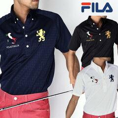 【2015年春夏モデル】 フィラ(FILA) ゴルフウェア  半袖ポロシャツ(メンズ) ワッペン半袖BDNポロ 745-632