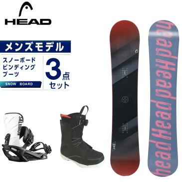 ヘッド HEAD スノーボード 3点セット メンズ ボード+ビンディング+ブーツ WISE + RHYTHM BK/WHT +ANCHOR BOA