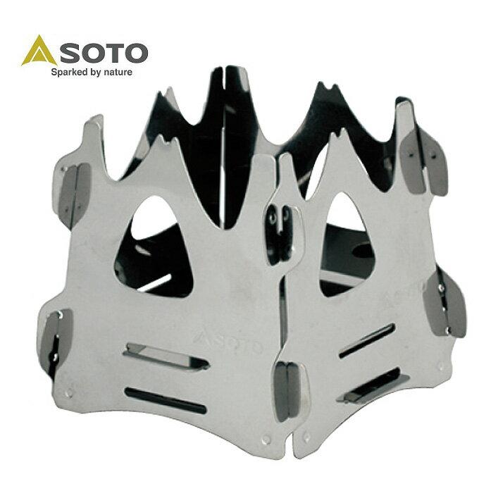 ソト SOTO 焚き火台 ミニ焚き火台テトラ ST-941 od
