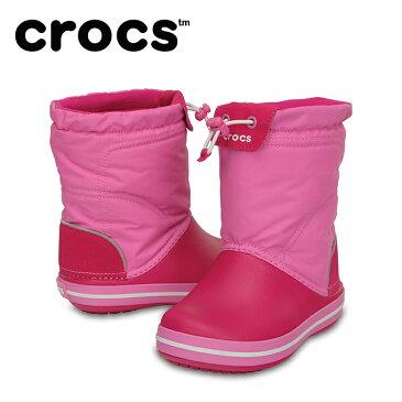 クロックス スノーブーツ 冬靴 ジュニア crocband lodgepoint boot kids クロックバンド ロッジポイント ブーツ キッズ 203509-6LR crocs run