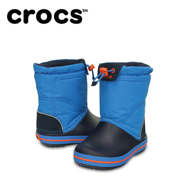 クロックス スノーブーツ 冬靴 ジュニア crocband lodgepoint boot kids クロックバンド ロッジポイント ブーツ キッズ 203509-4A5 crocs run