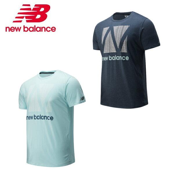 ニューバランスTシャツ半袖メンズ574SグラフィックヘザーテックショートスリーブTシャツAMT01071newbalanceru