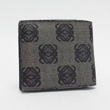 ロエベ 二つ折り財布 グレー PVC ロゴ 中古 Bランク LOEWE | レディース メンズ ブランド 財布 【ネコポス送料無料】