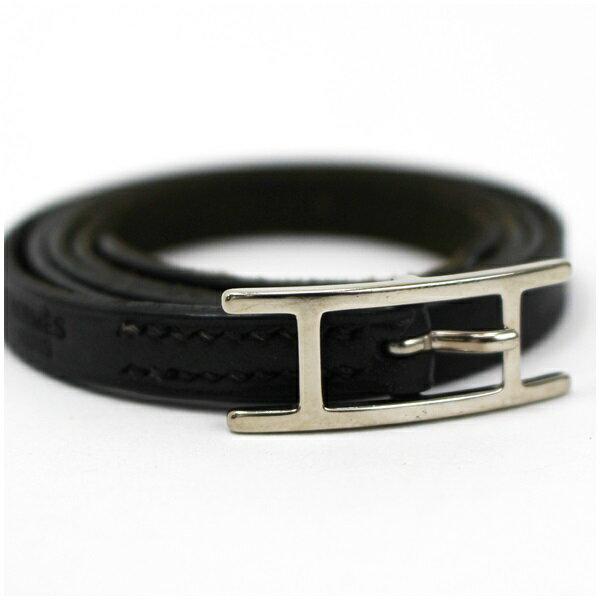 HERMES Leather Bracelet 3 AB HERMES