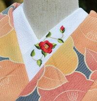 つばき・赤☆ひめ吉オリジナルデザイン☆艶やかな椿です☆ワンポイント半襟☆