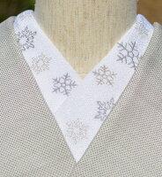 雪の結晶・ちりめん☆ひめ吉オリジナルデザイン☆こだわり半襟☆クリスマス☆「配送をお読みください」ゆうパケットはポスト投函です