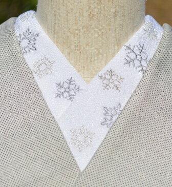 雪の結晶・ちりめん☆刺繍 ひめ吉オリジナルデザイン☆こだわり半衿☆クリスマス☆「配送をお読みください」ゆうパケットはポスト投函です決済してからのご質問はお控えください(^^ゞまず、先に質問くださいませ♪