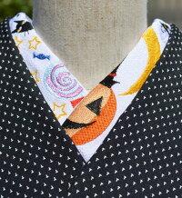 ハッピーハロウィン☆刺繍半衿ひめ吉オリジナルデザイン☆こだわり半襟☆「配送について」をお読みください。ゆうパケットは日時指定できません、ポスト投函です。