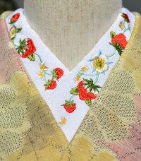 苺イチゴストロベリー☆刺繍半襟☆ひめ吉オリジナルデザイン☆半衿