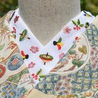 お正月丹後ちりめん☆刺繍半衿ひめ吉オリジナルデザイン☆こだわり半襟☆「配送について」をお読みください。ゆうパケットは日時指定できません、ポスト投函です。