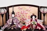 雛人形三五親王飾り金沢箔桜華本金手描き蒔絵収納台送料無料