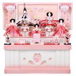 雛人形芥子コンパクト収納台五人飾り三段飾り平安春雅