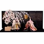 ひな人形立ち雛京都西陣織平安優香花ごろも送料無料