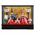 雛人形ケース入おぼこ舞桜小芥子五人飾り送料無料