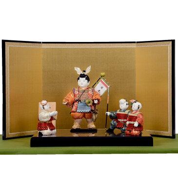 五月節句 男の子 五月人形 木目込み 子供大将飾り 原孝洲 「桃太郎と家来」送料無料