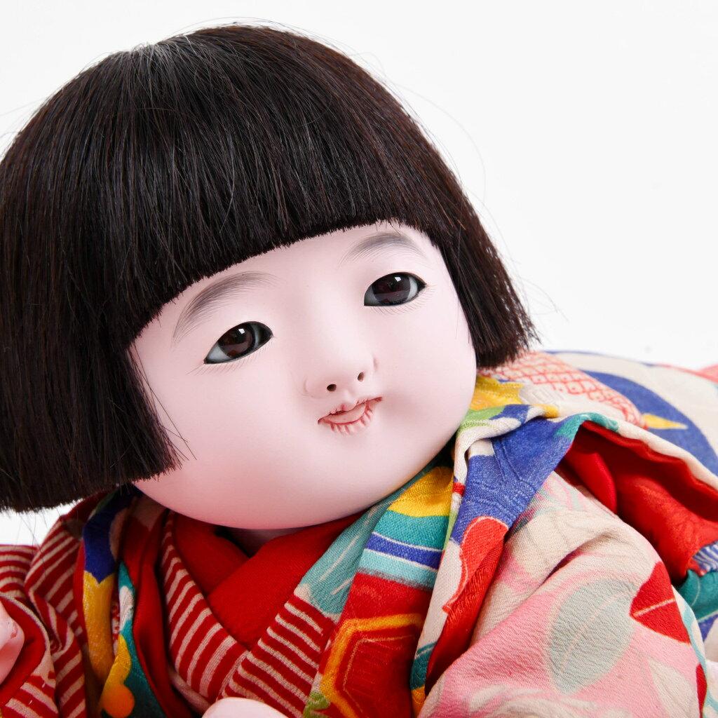 市松人形 這い子人形 女の子(大)  松乾斎東光作 アウトレット【展示特価品】