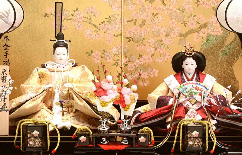 束帯十二単姿 刺繍 京極 桜華セット 本金手描蒔絵 金沢箔