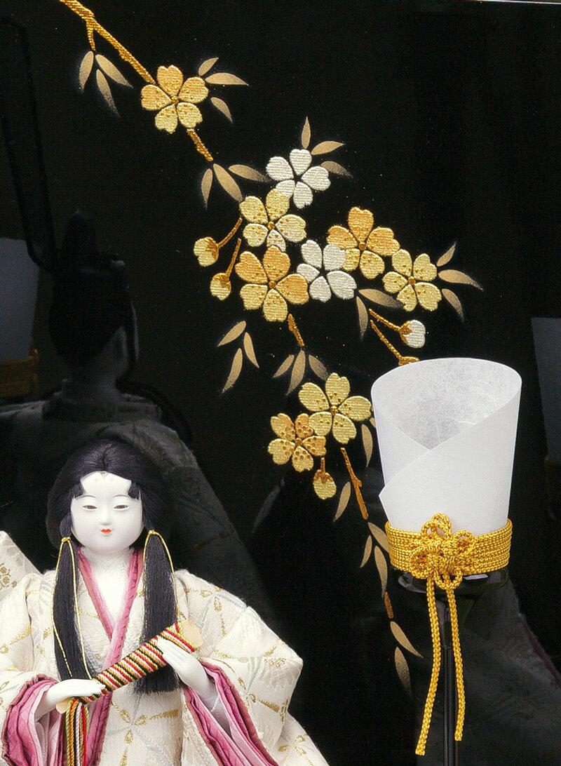 柴田家千代作 つぼみ紅梅 有職 金彩屏風