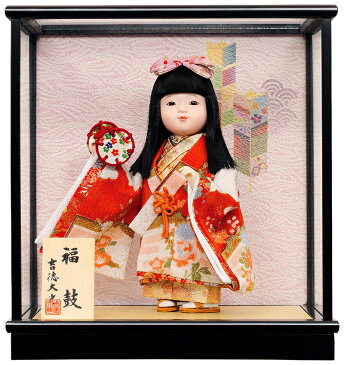 雛人形 吉徳大光 ひな人形 雛 ケース飾り 浮世人形 福鼓 【2019年度新作】 h313-ys-343524