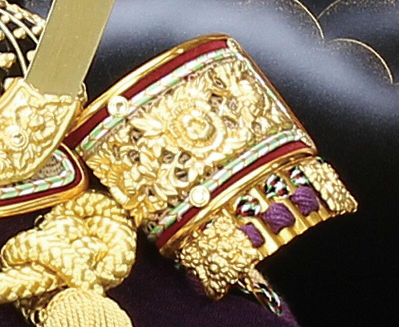 翔陽作 正絹 黄金糸縅 8号 黒溜塗