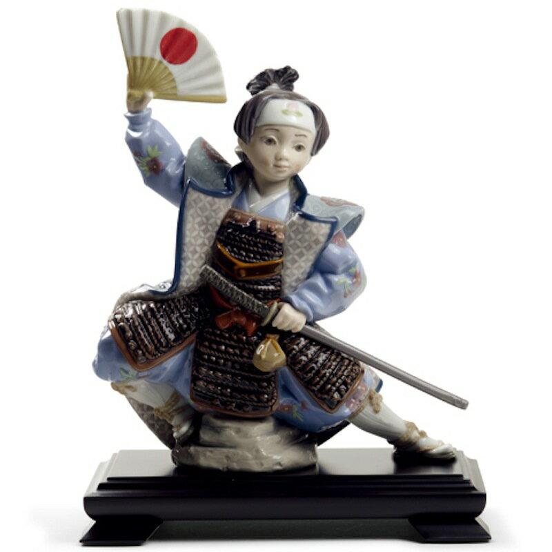 Lladro 磁器人形 桃太郎 台座付 限定3500体