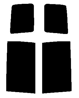 送料無料●リヤーサイドガラスのみ 簡単ハードコート ミツビシ デリカ D5 CV5W・CV4W カット済みカーフィルム