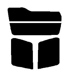送料無料●パジェロミニ H51A・H56A・H57A 前期 カット済みカーフィルム ハードコート リヤーセット