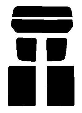 ▼ エブリィバン (エブリーバン) DA64V 標準ルーフ カット済みカーフィルム ミラーフィルム(シルバー) リヤーセット
