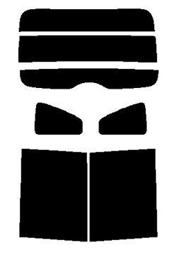 送料無料●ゼロブラック ソリオ MA15 カット済みカーフィルム リヤーセット