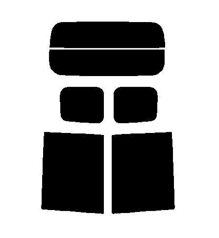 送料無料●2層構造フィルム トヨタ ルーミー M900A M910A カット済みカーフィルム ハードコート リヤーセット 38ミクロン 簡単ハードコート画像