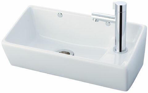 INAX(LIXIL)角形手洗器(壁付式)壁給水・壁排水(ボトルトラップ)L-35+LF-48+LF-3G(55)382W25+LF-731PALC+KF-33:日の出ショッピングサイト