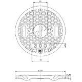TAKIRON(タキロン)レジコン耐圧蓋【汚水雨水兼用:穴無:300:白】【車乗・積載可】303361