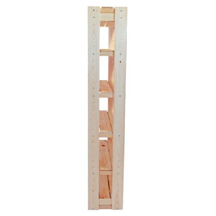 オープンラック高さ150cmタイプ6段幅77cm国産ひのき組み立てセットすのこ棚stana-01棚ラック無垢本棚飾り棚木製ラック多目的ラックキッチラックおしゃれ木製桧檜ヒノキ紀州ひのきや
