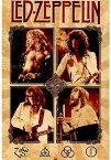 レッド・ツェッペリン/ポスター Led Zeppelin Parchment フレーム付