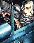 タマラ・ド・レンピッカ作品 Self Portrait アートポスター50cm×40cm/アートフレーム付