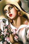 タマラ・ド・レンピッカ アートプリント/Portrait d'une jeune アートフレーム付