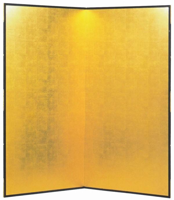 金屏風 通販/洋金箔平押 本間二曲半双 祝宴の席に 金屏風通販:美術工芸の檜屋