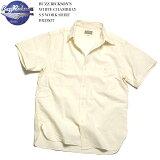 BUZZ RICKSON'S バズリクソンズ WHITE CHAMBRAY S/S WORK SHIRT BR35857 送料無料 日本製 シャンブレー 半袖 ホワイト ワークシャツ