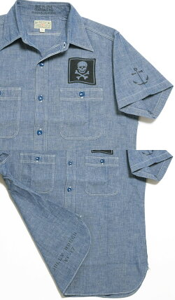 BUZZRICKSON'SバズリクソンズBLUECHAMBRAYS/SWORKSHIRT