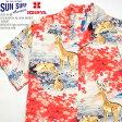 "SUN SURF サンサーフ S/S RAYON ALOHA SHIRT ""DEER"" HINOYA Special Order SS37647HY"