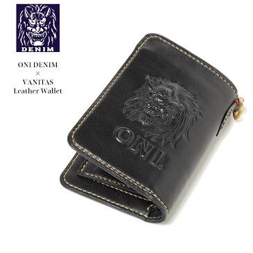ONI DENIM × VANITAS Leather Wallet ONI-WALLET 鬼デニム ヴァニタス 姫路なめし 日本製 国産 レザーウォレット カービング