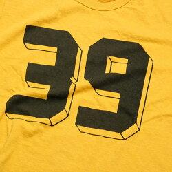 """BURGUSPLUSバーガスプラスS/SPrintTee""""39""""BP20605日本製国産Tシャツプリントレッドイエローオフホワイト"""