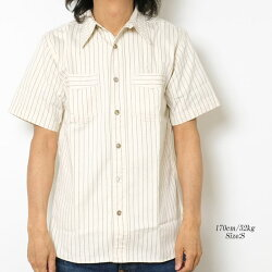 SUGARCANEシュガーケーン8.5oz.WHITEWABASHSTRIPES/SWORKSHIRTSSC36267A