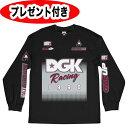 ディージーケー 長袖Tシャツ DGK dgk 2017新作 MX ブラック BLACK オーダーメイド缶バッジプレゼント付