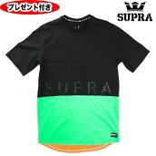 スープラtシャツSUPRA半袖TシャツT-SHIRTブラックBLACK黒supraスニーカーストリートTシャツプレゼント付
