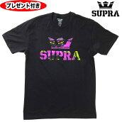 スープラtシャツSUPRA半袖TシャツABOVEREGULART-SHIRTネイビーNAVY紺supraスニーカーストリートTシャツプレゼント付