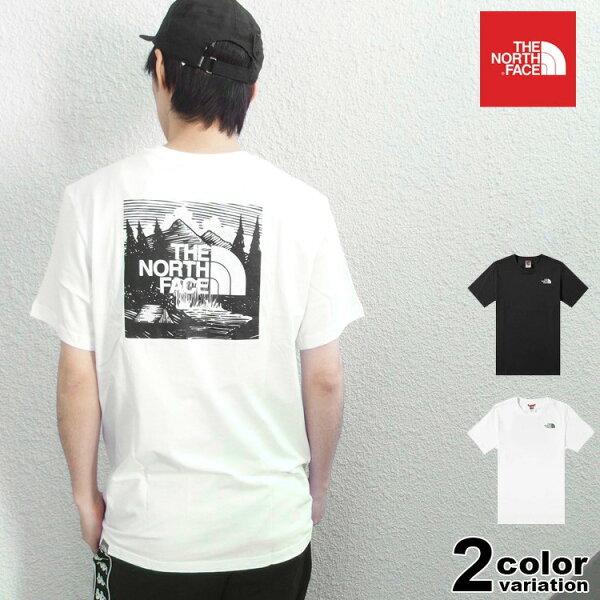 ザノースフェイスTHENORTHFACETシャツ半袖メンズレッドボックスロゴ(thenorthfaceREDBOXCELEBRA