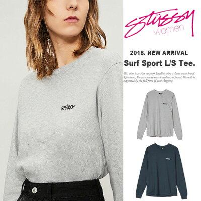 40ce309bb7e ... ステューシー STUSSY WOMEN Tシャツ 長袖 レディース Surf   Sport L S Tee (stussy ...